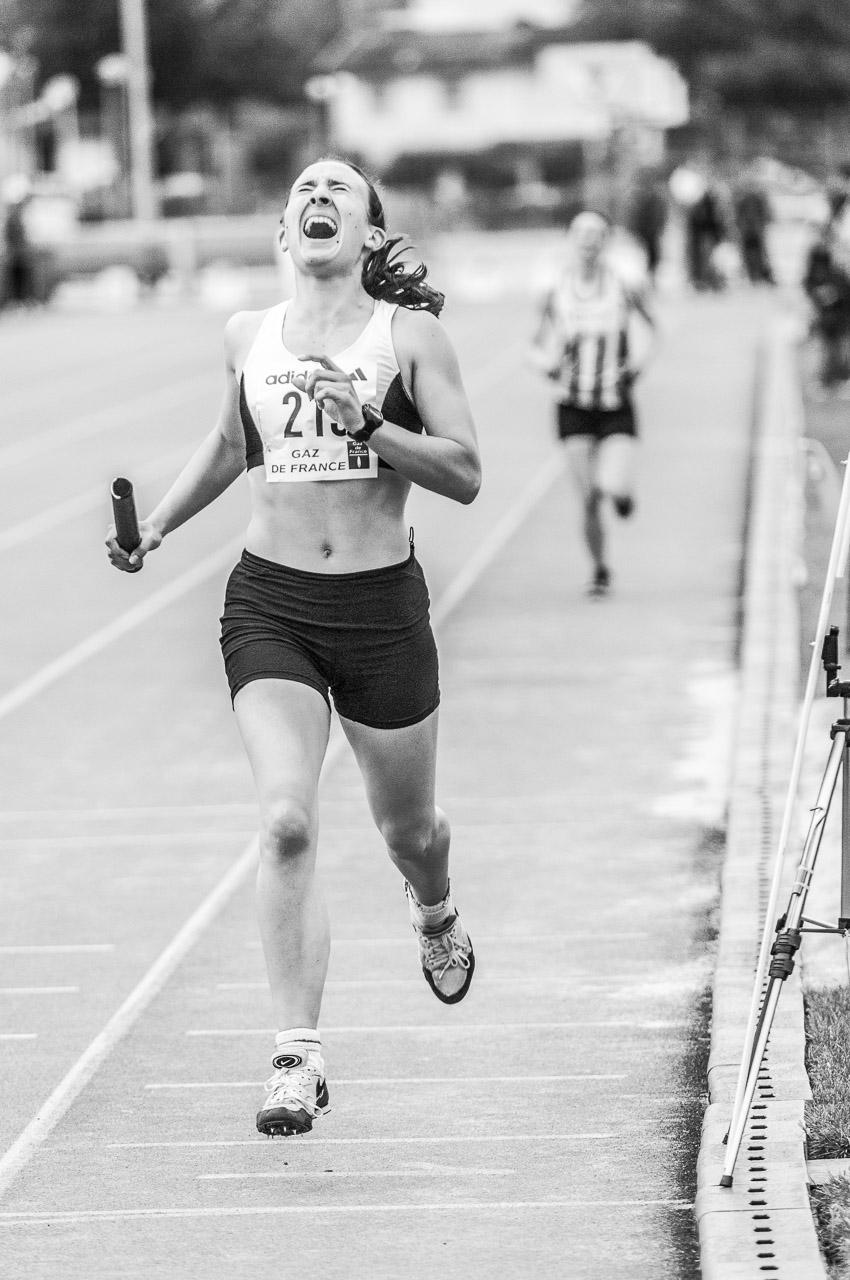 Athlétisme course relais