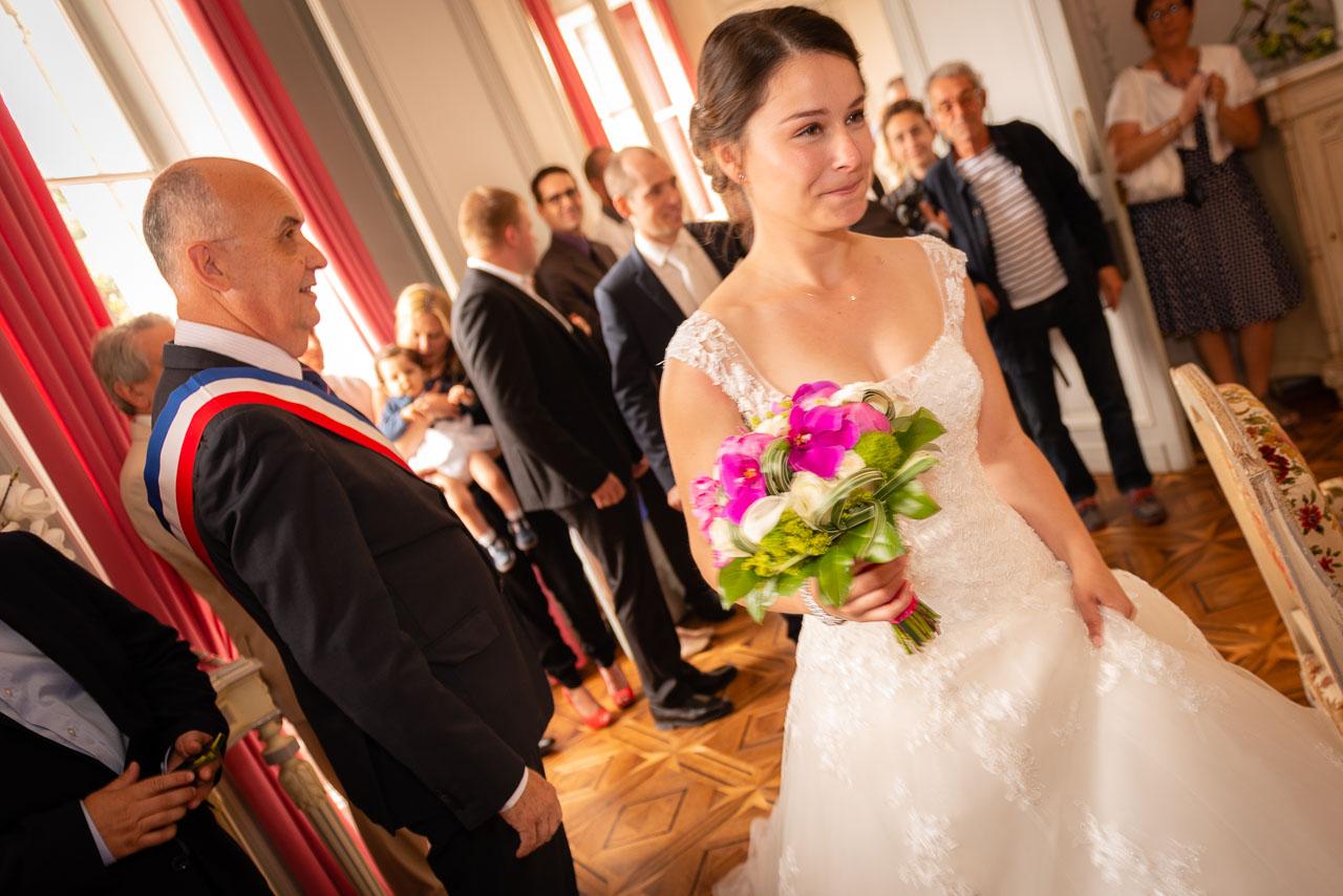 Mariage Mairie émotion