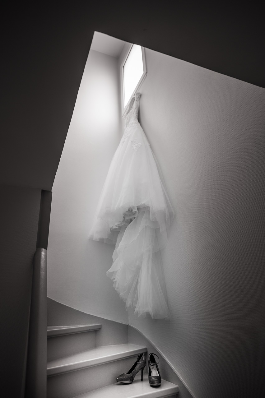 Mariée robe et chaussures
